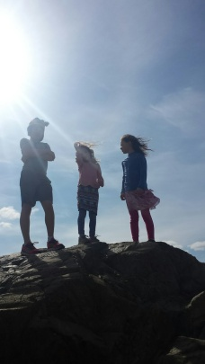 kids and sky
