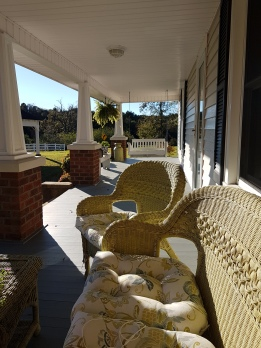 Front porch of Aunt Kathy's and Uncle Danny's 95-year-old family home